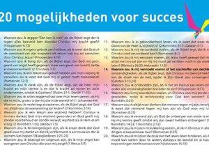 20 mogelijkheden voor succes